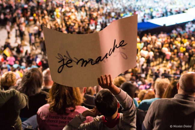 Meeting d'Emmanuel Macron, Paris (17/04/2017)